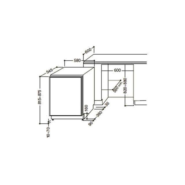 HOTPOINT - ARISTON - Réfrigérateur Table Top Intégrable BTSZ1632/HA BTSZ 1632 HA