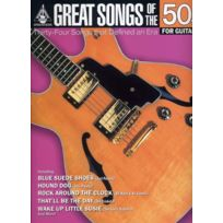 Hal Leonard - Partitions Variété, Pop, Rock. Great Songs Of The 50's - Guitar Tab Guitare Tablatures