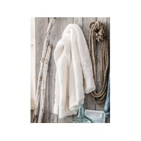 Today - Plaid microfibre épaisse polyester uni blanc 125x150cm Bearnc