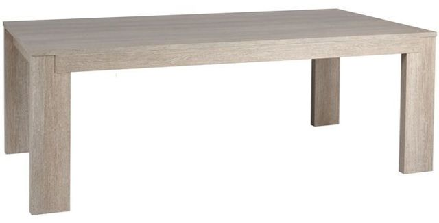 Comforium Table fixe contemporaine 185 cm coloris chêne gris