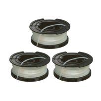 Black & Decker - A6486 Lot de 3 Bobines de fil reflex 3 x 6 m