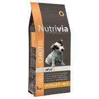 Nutrivia - Croquettes au Poulet et Riz pour Chiot de Petite Taille - 3Kg