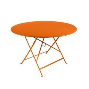 Bistro par Fermob - Table de jardin ronde pliante Acier laqué Bistro ...