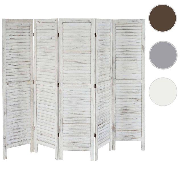 paravent blanc achat vente de paravent pas cher. Black Bedroom Furniture Sets. Home Design Ideas