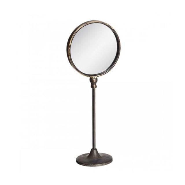wadiga miroir dcoratif poser sur pied rond or antique dor 0cm x 0cm pas cher achat vente miroirs rueducommerce