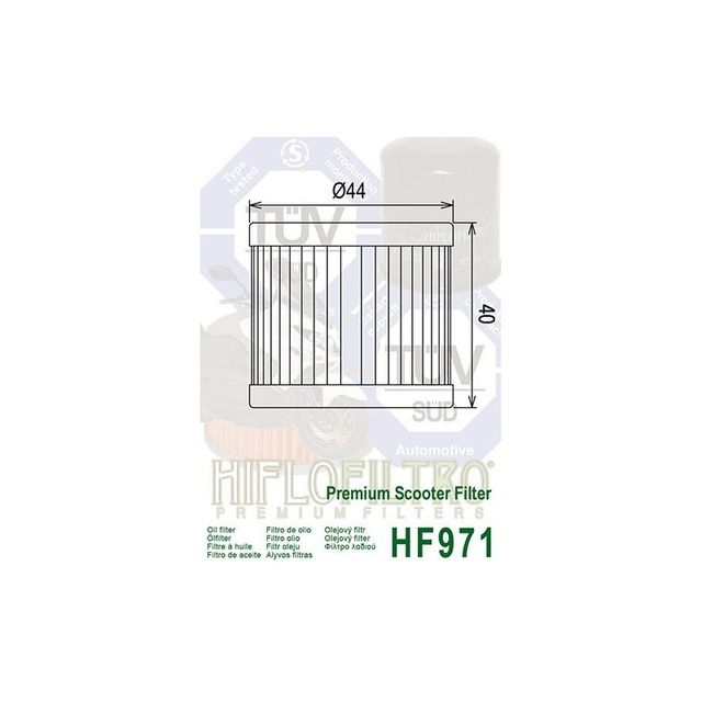 hiflofiltro filtre a huile hf971 suzuki an125 96 00 uh125 burgman 02 1 pas cher achat. Black Bedroom Furniture Sets. Home Design Ideas