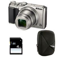 Nikon - Compact Coolpix A900 Silver + Etui + Carte Sd 4 Go