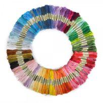 Générique - Lot de 100 Echevettes de Fils Multicolores Pour Broderie Point de Croix Tricotage Bracelets Brésiliens