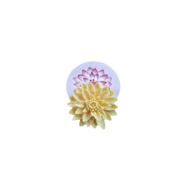 Alpexe Moule de Cuisson Fleur Nenuphare Fleur De Lotus 3D Pour Gâteau Pour Cookie Pour Tarte Silikon Ecologique