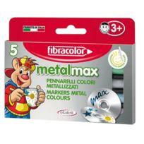 Fibracolor - marqueur pointe ogive metallise max assorti - boite de 5