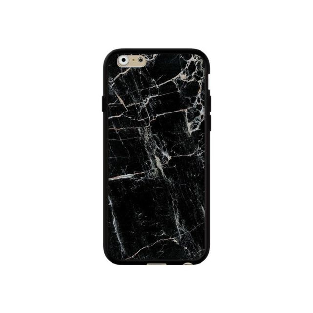 coque iphone 6 et 6s marbre marble noir black laetitia