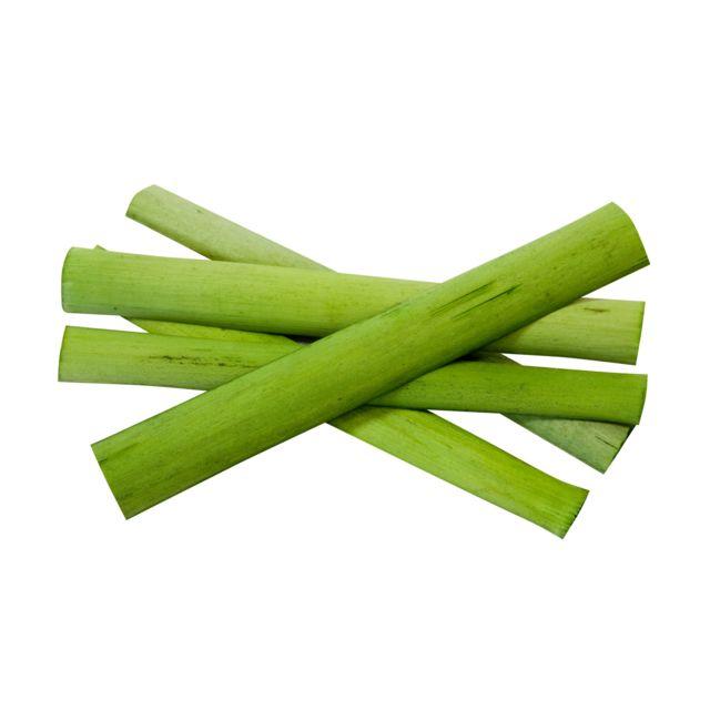 Visiodirect 10 Lots de 25 batonnets bambou déco Vert - 11 x 1,8 cm
