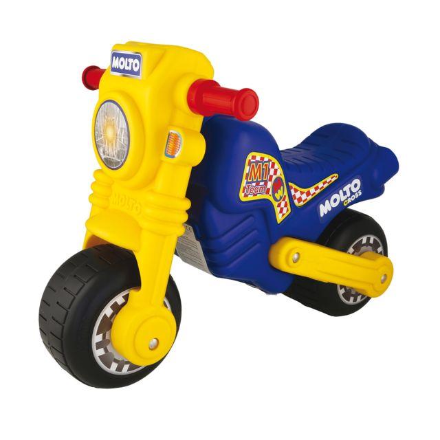 Molto Porteur moto cross bleu et jaune