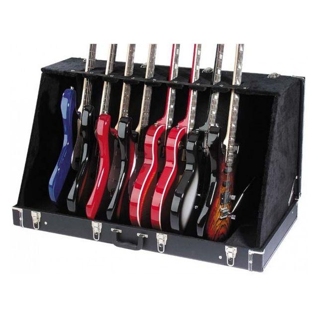 Stagg Coffre pour guitares acoustiques et électriques Gdc-8 Coffre-présentoir universel pour 4 guitares acoustiques ou 8 électriques
