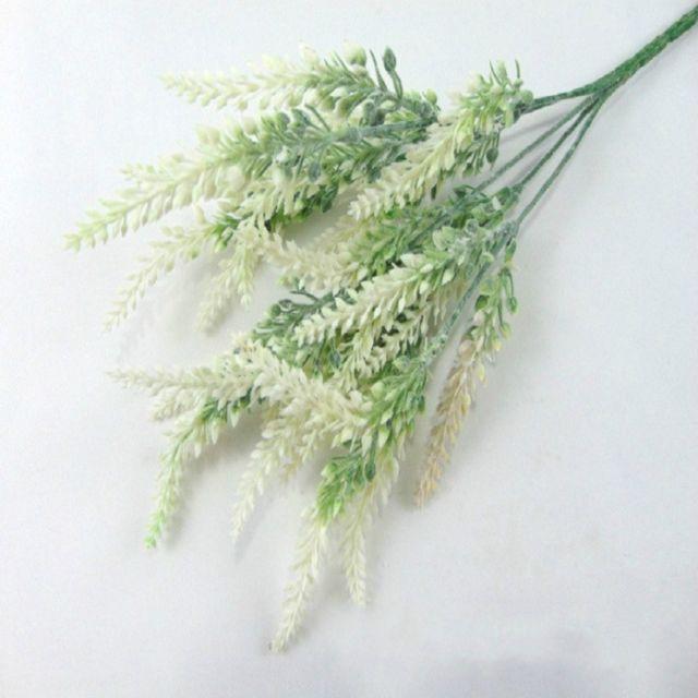 Wewoo Fleurs Artificielles en soie de fleur de lavande romantiques Fausses plantes décoratives de simulation de grain blanc