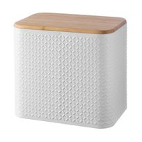 Typhoon - Boîte à pain en aluminium blanc et couvercle en bambou Imprima
