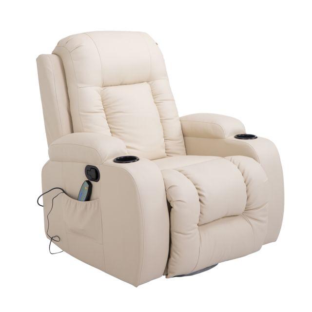 Homcom Fauteuil De Massage Et Relaxation électrique Chauffant