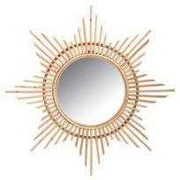 AUBRY GASPARD - Miroir en rotin Etoile