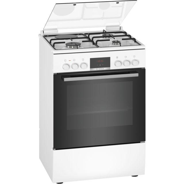 Bosch cuisinière mixte a 66l 4 feux blanc - hxr39ig20