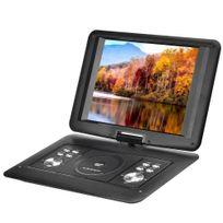 Auto-hightech - Lecteur dvd portable 14 pouces Fonction copie, écran rotatif 270 degrés, jeux