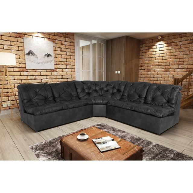 Rocambolesk Canapé Clac Lux 2A2 Tobago 17 antracite sofa divan
