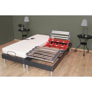 lovea ensemble relaxation victoria matelas m moire de forme sommier lattes plots. Black Bedroom Furniture Sets. Home Design Ideas
