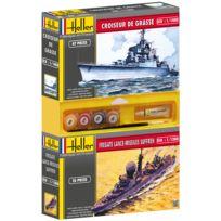 Heller - Lot de 2 maquettes : Croiseur de Grasse + Fregate Lance-missiles Sufren