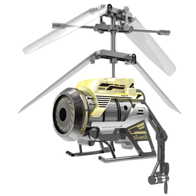SILVERLIT Nano Spy Cam - 84729 Dès 15 ans - Hélicoptère 2en1