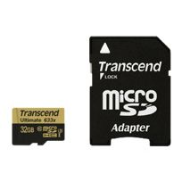 Transcend - Ultimate - Carte mémoire flash adaptateur microSDHC - Sd inclus e - 32 Go - Uhs Class 3 Class10 - 633x - microSDHC Uhs-i