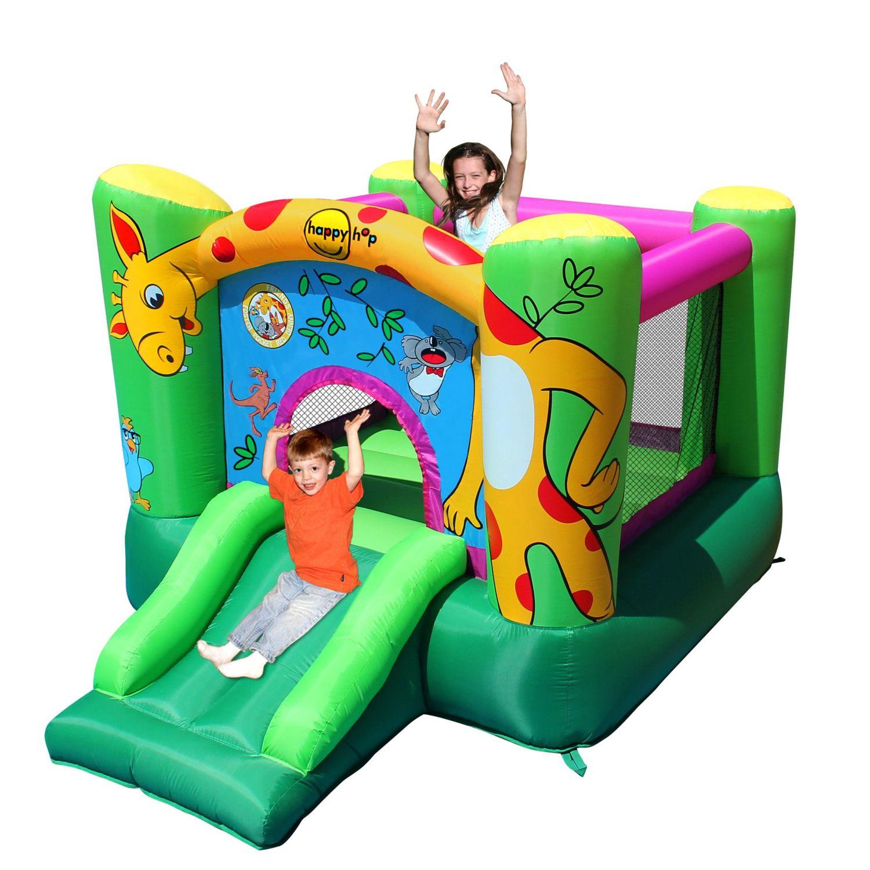 Alinéa - Happy Hop Château gonflable motif girafe avec trampoline et toboggan
