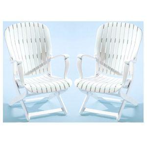 Evolutif - 2 fauteuils bas de jardin multipositions pliants en ...