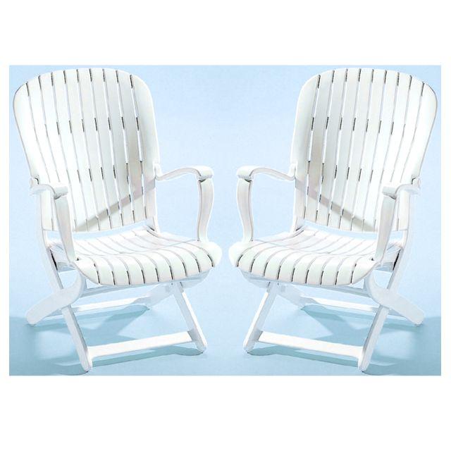 Evolutif - 2 fauteuils bas de jardin multipositions pliants ...