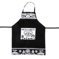 Fox Trot - Tablier de cuisine 100% coton motif montagne et forêt 91x72cm Papier Decoupe