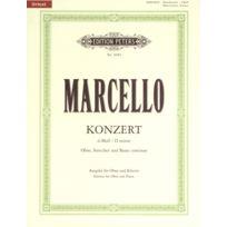 Edition Peters - Partitions Classique Marcello Alessandro - Oboe Concerto In D Minor - Oboe And Piano Hautbois