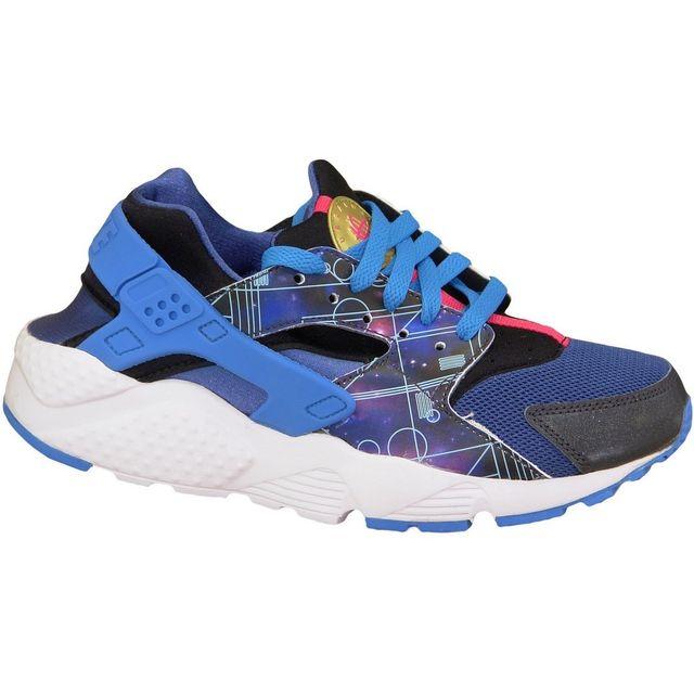 reputable site 188a0 cfed0 Nike - Huarache Run Print Gs 704943-004 Bleu - pas cher Achat  Vente  Baskets enfant - RueDuCommerce