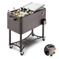 BLUMFELDT - Springbreak Chariot bar glacière frigorifique de terrasse 80L - rotin