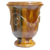 Terre Figuiere - Vase D'ANDUZE émaillé flammé Dimensions : N°1 - H35cm x D32cm