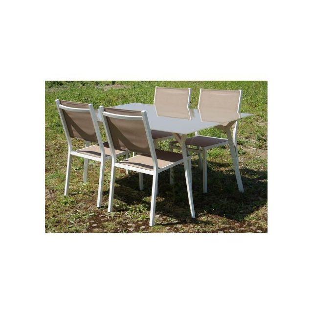 ch let jardin salon de jardin haut nova ii aluminium et verre trempe pas cher achat. Black Bedroom Furniture Sets. Home Design Ideas