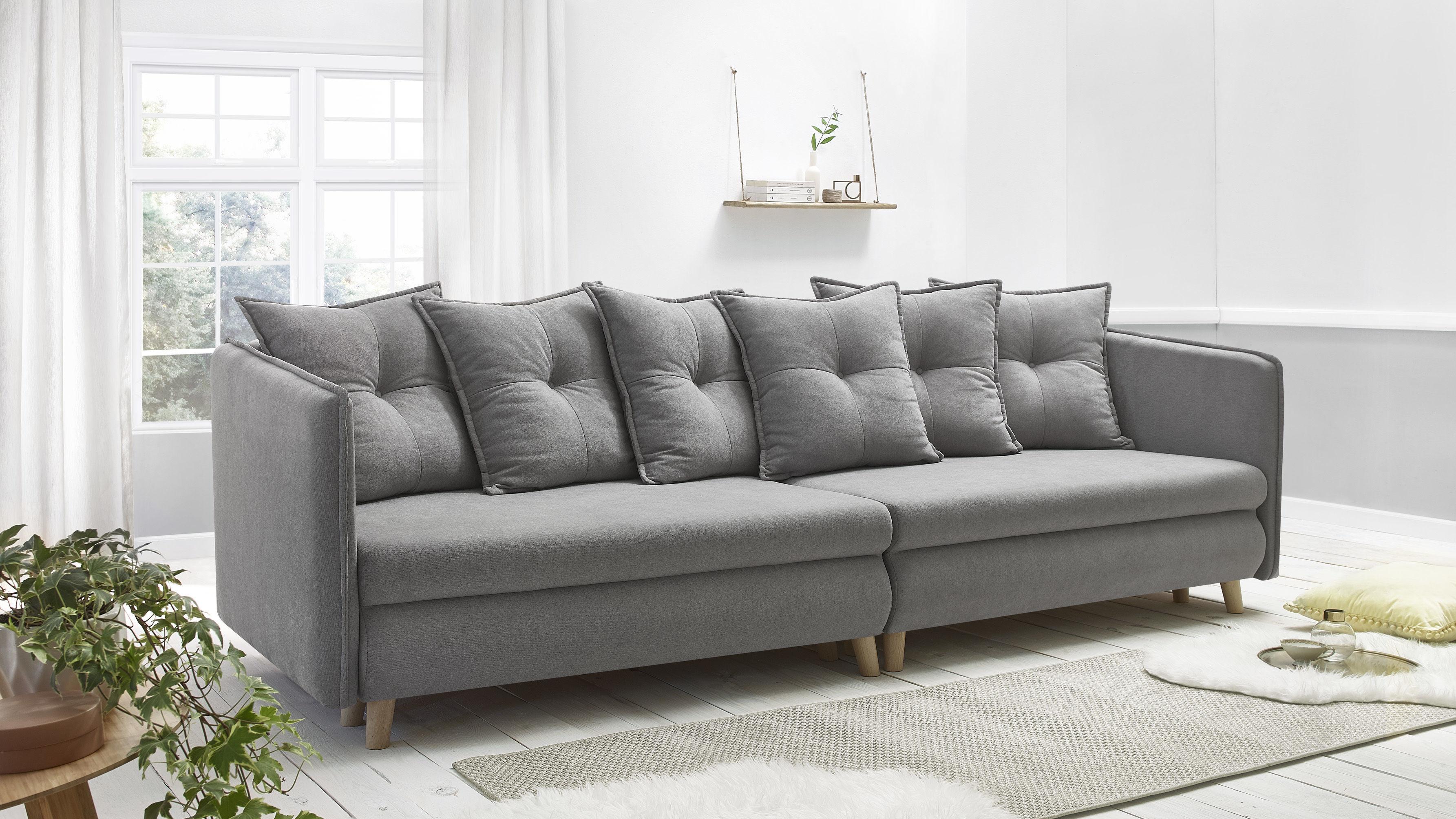 bobochic canap opti sofa 4 places convertible gris clair 103cm x 77cm x 264cm achat. Black Bedroom Furniture Sets. Home Design Ideas