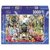 Ravensburger - Puzzle 1000 pièces : Tous à bord pour Noel avec Disney