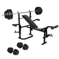 banc de musculation avec poids