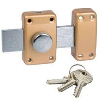 City - Verrou à bouton pour porte de garage Cyl 40 mm pêne 160 mm Cylindre sécurité 25