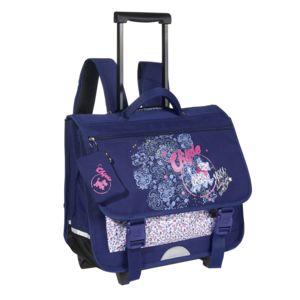 chipie cartable roulettes 41 cm bleu primaire pas cher achat vente cartables sacs. Black Bedroom Furniture Sets. Home Design Ideas