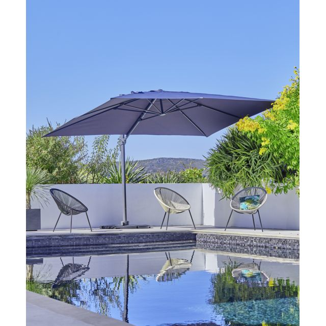 carrefour parasol rectangulaire roma pas cher achat. Black Bedroom Furniture Sets. Home Design Ideas