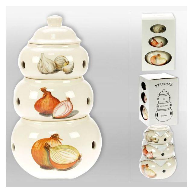 revimport pots pyramide x 3 ail oignons echalotes pas cher achat vente boite de. Black Bedroom Furniture Sets. Home Design Ideas