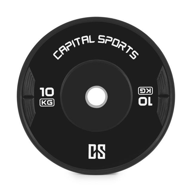 Capital Sports Elongate Set Bumper Plate 5 paires de disques Fitness de 5kg