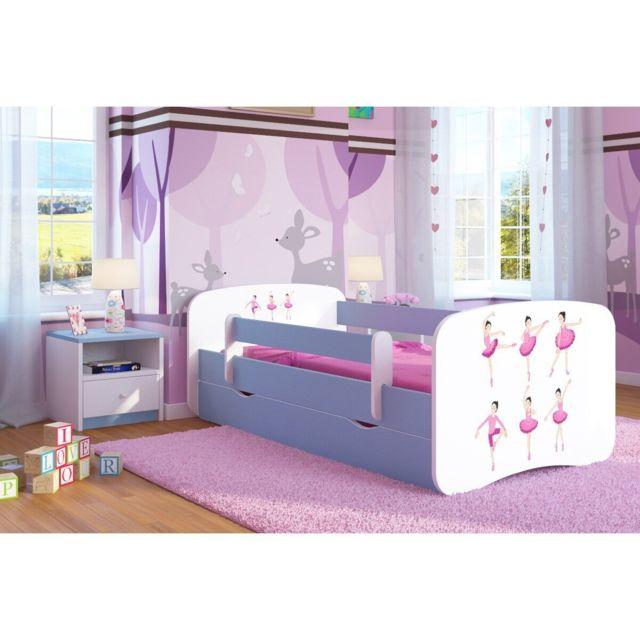 carellia lit enfant ballerina 70 cm x 140 cm avec. Black Bedroom Furniture Sets. Home Design Ideas