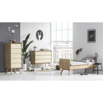 vox chambre complete lit evolutif 70x140 commode a langer chiffonnier vintage bois