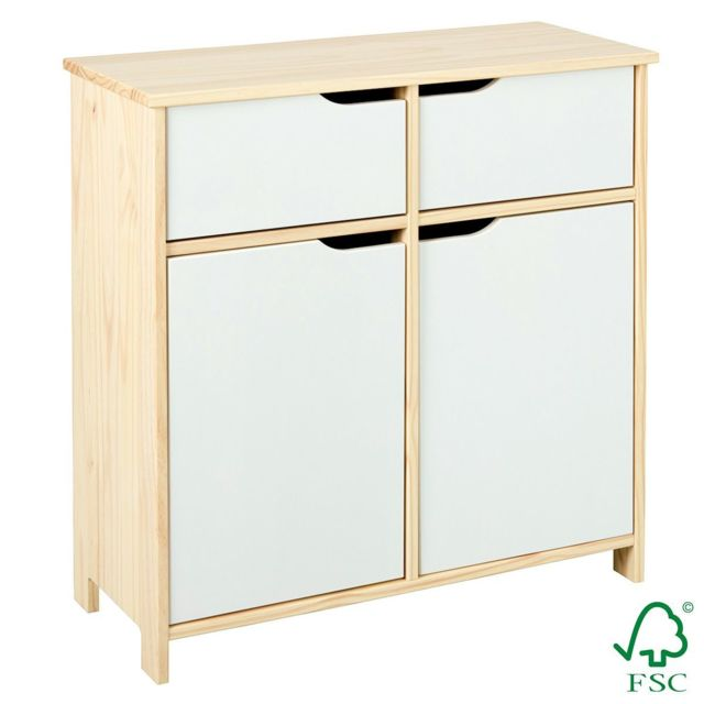 Altobuy Hybo - Commode 2 Portes 2 Tiroirs