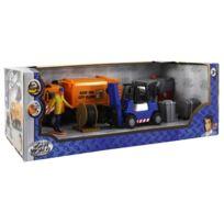 John World - Coffret camion avec figurine et accessoires : Travaux publics